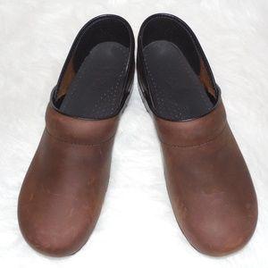Dansko Mens Brown Clog Shoe Sz 43 10.5 - 11